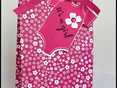 BABY GIFT BAG. Stampin'Up Gift Bag Punch Board