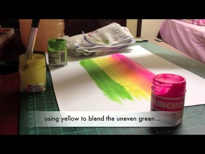 Basic of how to blend poster colour