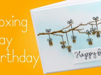 Boxing Day Birthday Card