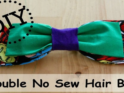 DIY No Sew Double Bow | How to make a Double No Sew Hair Bow