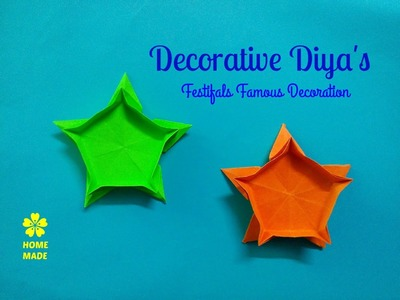 Diya's For Decoration | Easy and Simple Decoration