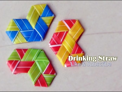Drinking straw: How to Fold Heart from Drinking Straw