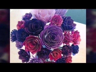 Flower making videos - recycled paper flowers