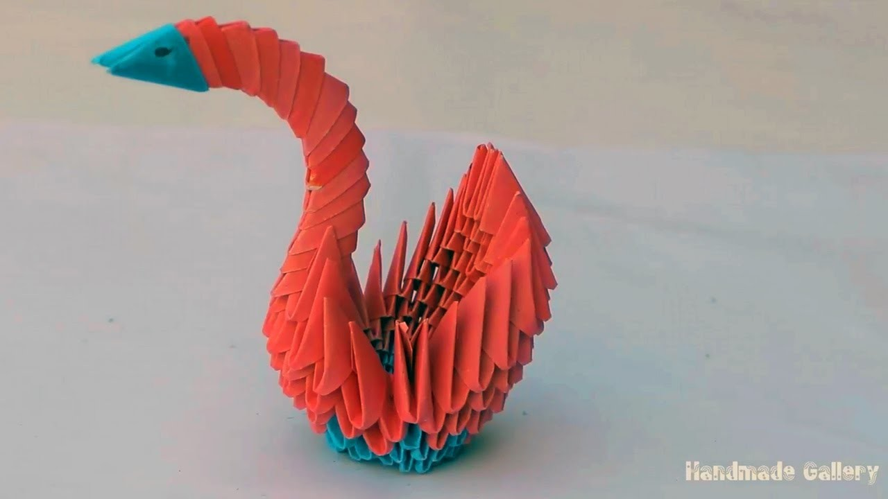 How to make a 3D Paper Swan Easy Tutorial