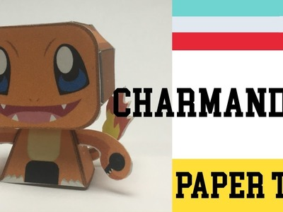 How to Make a Pokemon Charmander Paper Toy ( Papercraft ) (free template) by Becks Junkie