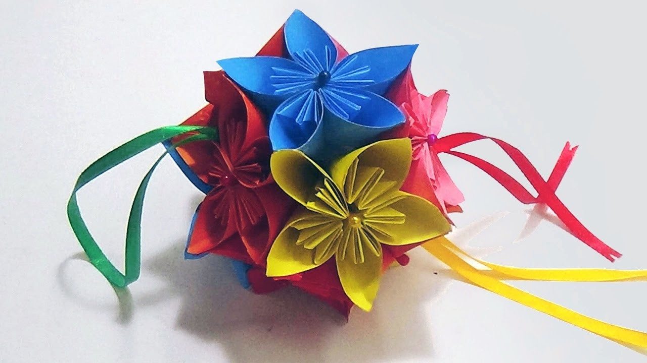 How To Make An Origami Kusudama Flower Ball Easy And Simple Steps