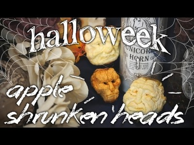 How to Make Apple Shrunken Heads ~Halloweek~