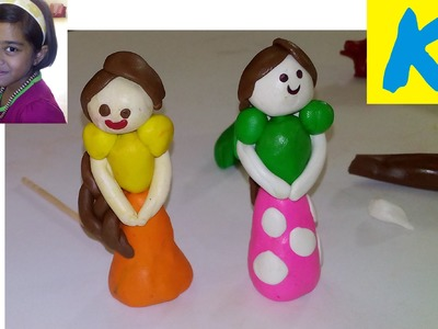 How To Make Clay Doll Play Dough Doh Modelling Clay Kids Play