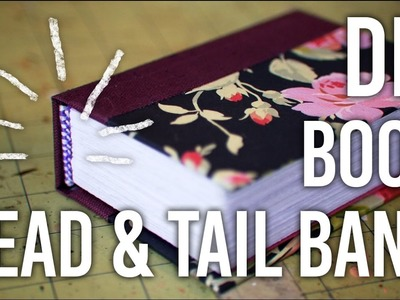 How To Sew a Head.Tail-band onto a Book - DIY