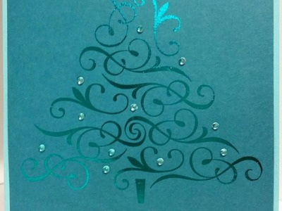 Laser Jet Printed and Foil Embossed Christmas Cards