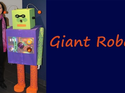 Make a life-size robot from cardboard