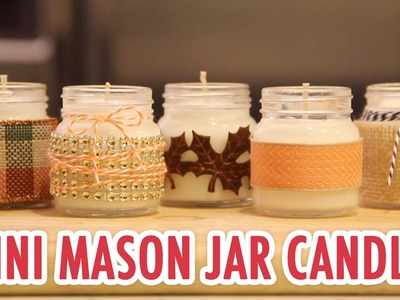 Mini Mason Jar Candles with Karen Kavett! - HGTV Handmade