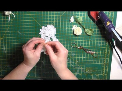 Pretty Scrimpy shabby lace flower tutorial