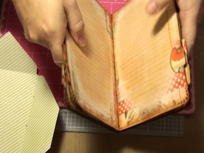 Pt9 -The Making of a file folder journal - Sewing in the Signature