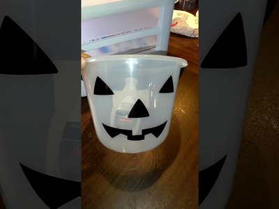 Remove writing or ink from plastic buckets. Halloween diy buckets for vinyl