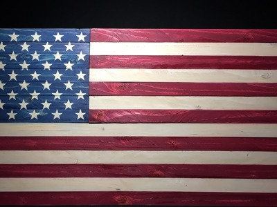 U.S. Flag made from a single 2x4