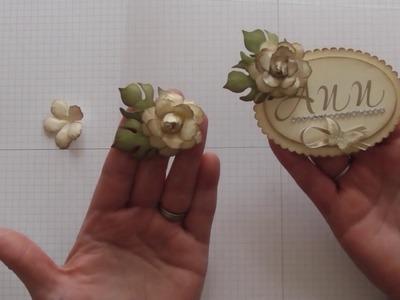 Winter rose tutorial using Stampin' Up! Botanical builder die