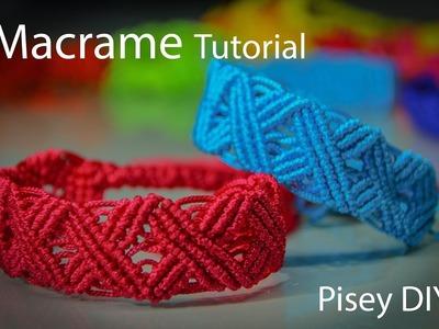 X pattern Bracelet in Vintage. Macrame Tutorial . Friendship Bracelets. Projects