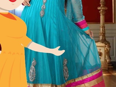 24 Panel Anarkali Marking And Cutting - Tailoring With Usha