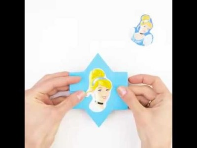 An easy way to entertain your kids with this origami face changer