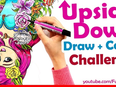 Art Challenge - Draw + Color UPSIDE DOWN - Art Channel Fun2draw