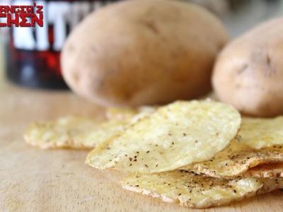 Crunchy Microwave Potato Chips. Potato Crisps. Potato Wafers | Headbanger's Kitchen Hacks