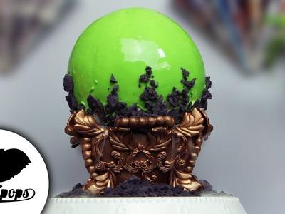 Crystal Ball Mirror Cake