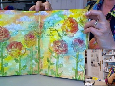 Distress Paints Without Stress - HowToGetCreative.com with Barb Owen