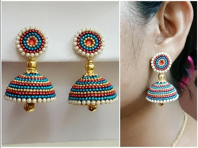 Easy Bridal Jhumkas Making - Using Ball Chain