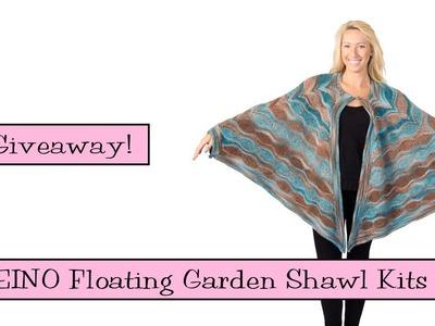 Giveaway! SKEINO Floating Garden Shawl Kits