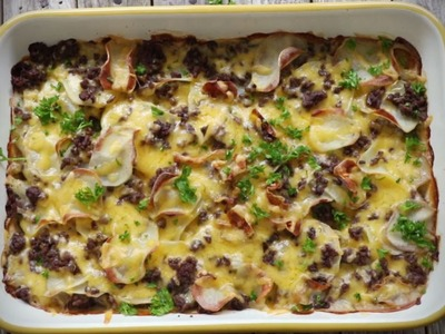 Ground Beef Recipes - How to Make Hamburger Potato Casserole