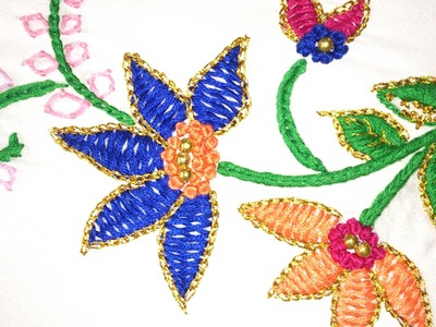 Hand embroidery designs. Hand embroidery stitches tutorial. Herring bone stitch .