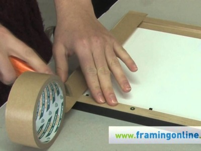 How To Frame A Picture: Taping The Back
