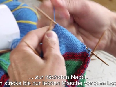 How to knit a short row heel for a sock by ARNE & CARLOS - DEUTSCH UNTERTITELN