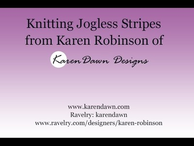 How to Knit Jogless Stripes in the Round