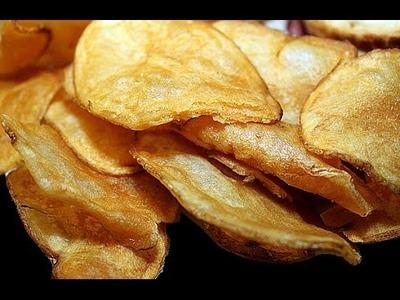 How to Make ALU CHIPS FRY Recipe in Telugu