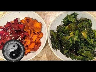 How To Make Kale Chips, Beet Chips & Sweet Potato Chips - Healthy Recipes