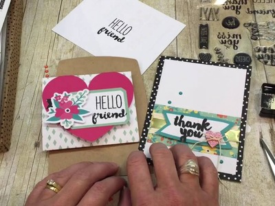 How to make Quick and Easy Cards with the Oh Happy Day Kit