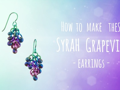 How to make these Syrah Grapevine Earrings | Seed Beads