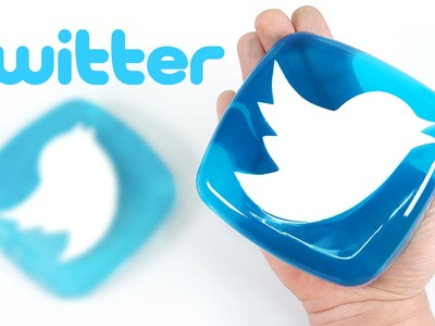 How to Make Twitter Logo Gummy Jelly Dessert - MonsterKids
