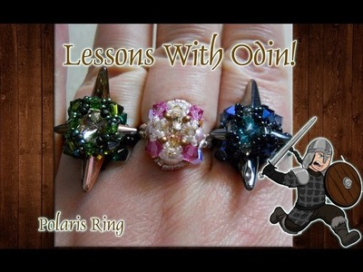 Lessons With Odin: Polaris Ring Beaded Jewelry Tutorial