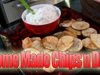 Mariah Milano's Homemade Potato Chips with Bleu Cheese Dip!