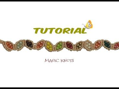 Micro Macrame Autumn Bracelet DIY ♥