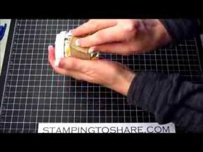 Mini Coffee Treat Holders with Burlap Ribbon Sleeves