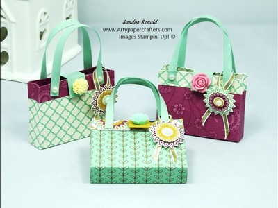 Mini Handbag.Purse using Stampin' Up products