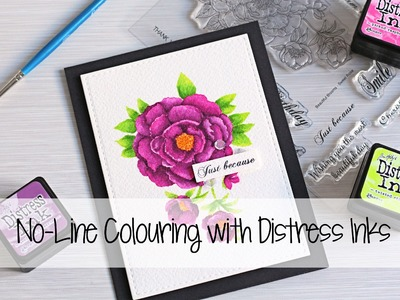 No-Line Colouring with Distress Inks | The Card Grotto