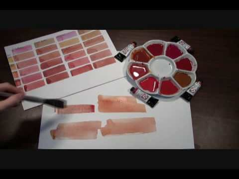 Painting out a Few Skin Tones with DANIEL SMITH Quinacridone Watercolors