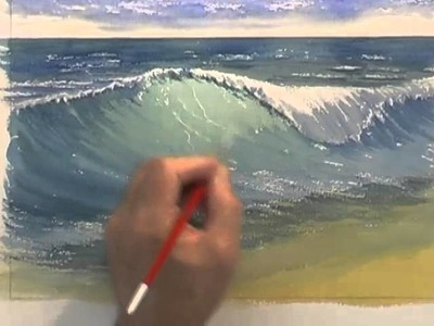 Painting Water in Watercolour - Crashing Waves (Part 2)