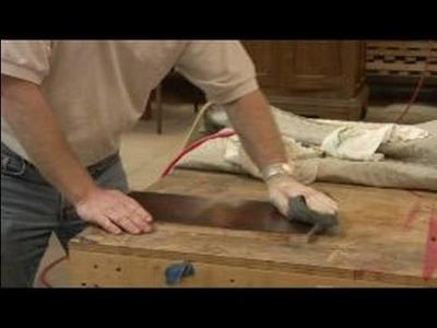 Refinishing Wood Furniture : Polishing Wood Furniture with Steel Wool