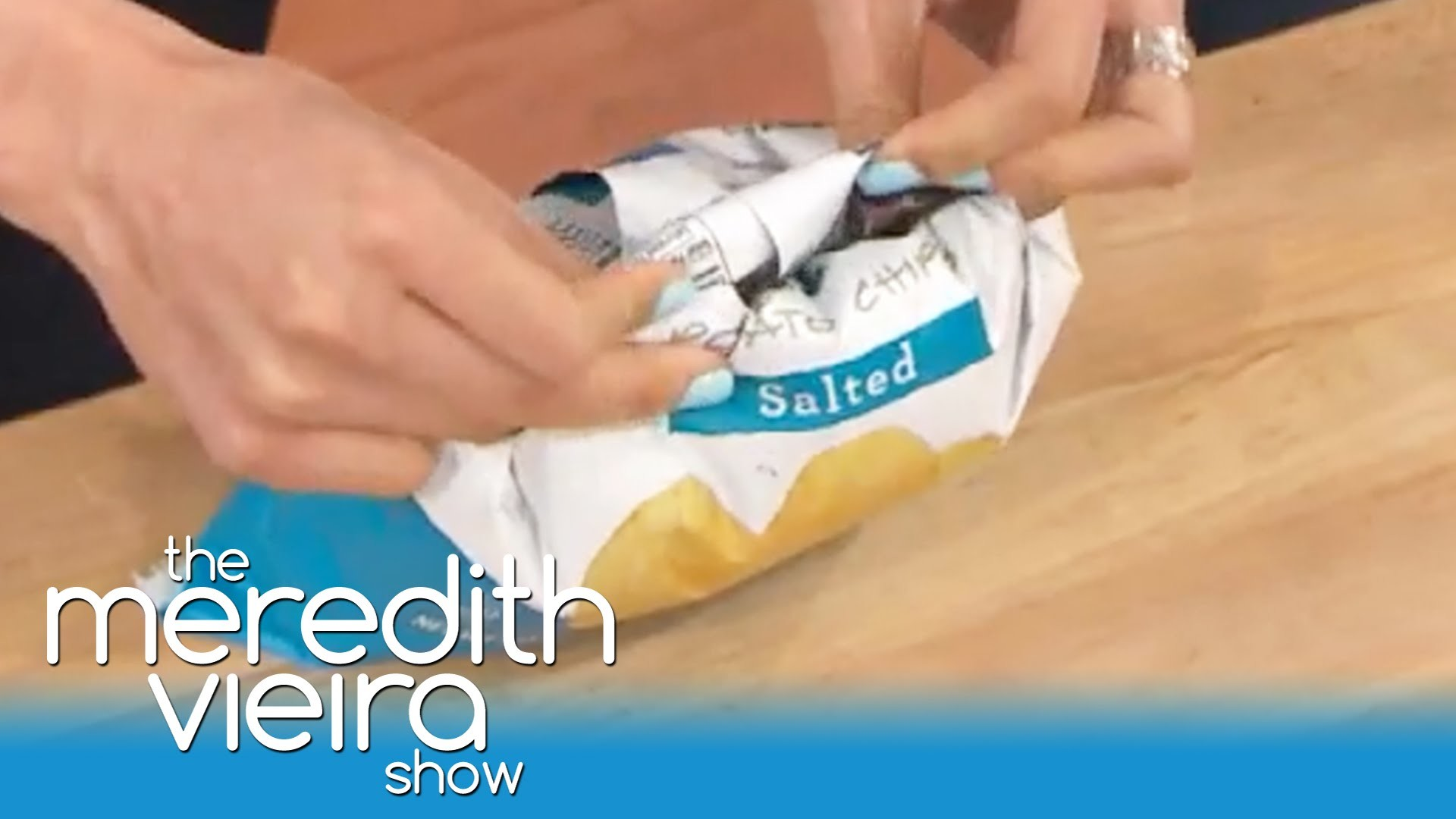Seal a Bag of Potato Chips Without a Clip! | The Meredith Vieira Show